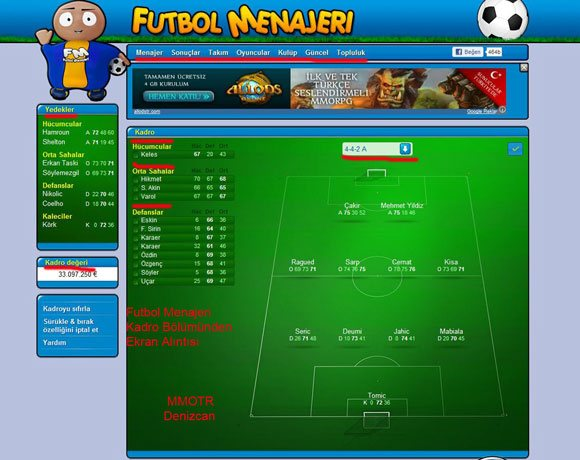 Online Menajerlik Oyunu - Futbol Menajeri