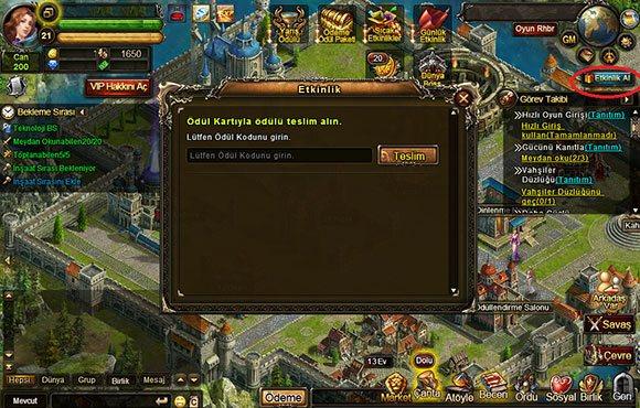 Legend Online Hediye Kodu Kullanımı